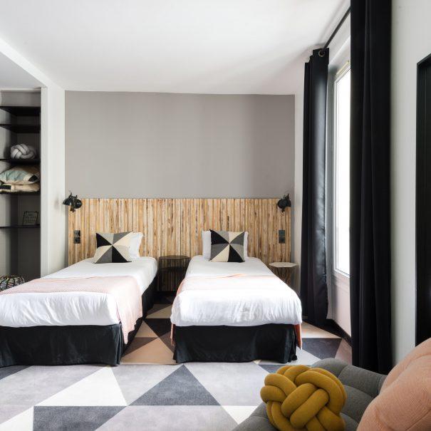 Hôtel Madrigal - Hôtel proche Tour Eiffel gare Montparnasse - Chambre Mignonne