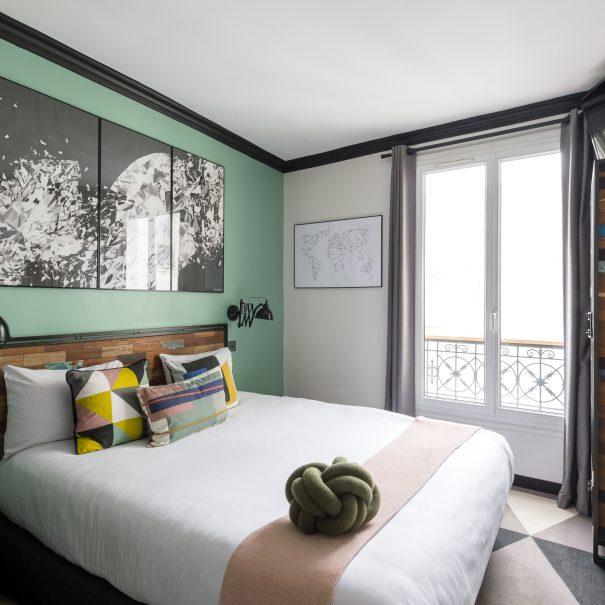 Hôtel Madrigal - Hôtel proche Tour Eiffel - Chambre Mignonne - Hôtel chambre design