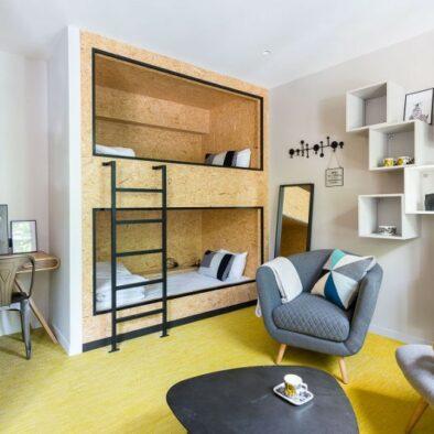 Hôtel Madrigal - Dortoir Les Maraudeurs - chambre familiale paris
